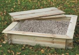 Houten zandbak met deksel 120x120
