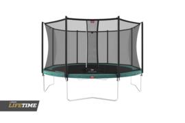 Trampoline Berg Favorit 380 Groen + Safety Net Comfort