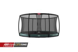 Trampoline Berg Elite+ InGround 330 + Safety Net Deluxe Groen