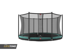 Trampoline Berg InGround Favorit 430 + Safety Net Comfort Groen