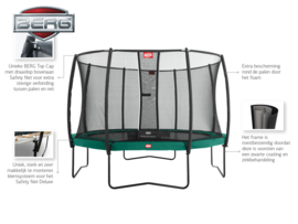 Trampoline Berg Champion 430 Groen + Safety Net Deluxe