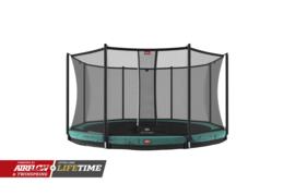 Trampoline Berg InGround Champion 330 + Safety Net comfort Groen
