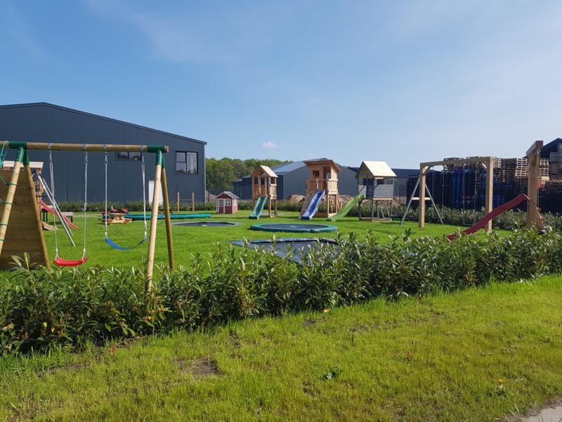 Trampolines uittesten in Drenthe