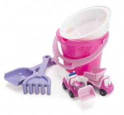 emmerset met auto roze
