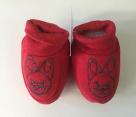 Little Triki's slofjes, kleur rood