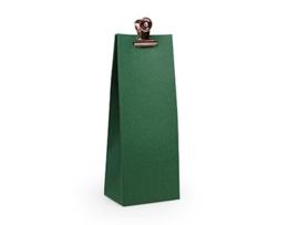 Hoog zakje 13x5x3 cm, kleur Forest green