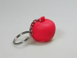 Sleutelhanger appeltje rood