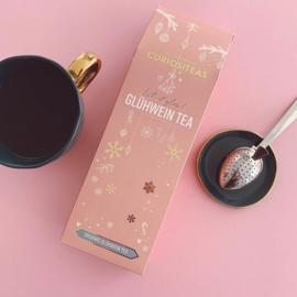 """Gluhwein-tea giftbox""""Let it glow"""" Heerlijke losse thee (voor 30 kopjes) + handige tea infuser!"""