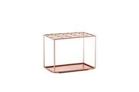 Metalen rekje voor tubes B 15 x H11,5 X B 9,5 cm, kleur roze rosé
