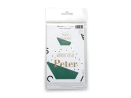 """Dubbele sticker """"peter"""" kleur forest groen"""
