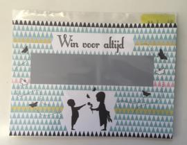 """Kraskaart thema Nordic: """"Wil jij mijn peter worden?"""",  inclusief enveloppe"""
