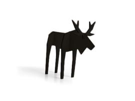 Nordic eland, klein model, kleur zwart (10,5 x 15 cm)
