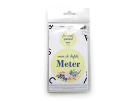 "Dubbele sticker ""meter"" kleur zacht geel"