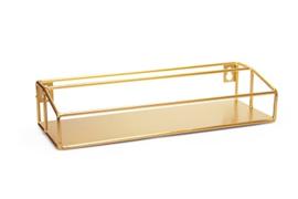 Rekje in metaal kleur goud, B25 x H5 x D9 cm