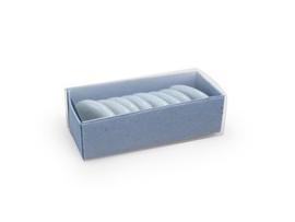 Schuifdoosje 2,2x7,4x3,1 cm, kleur silver blue