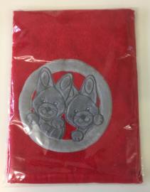Little Triki's handdoek 50 x 70 cm, kleur rood
