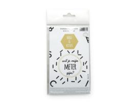 "Dubbele sticker ""meter"" kleur curry"