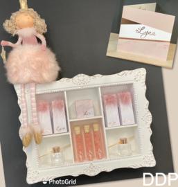 Lyna doopsuiker + geboortekaart met folie