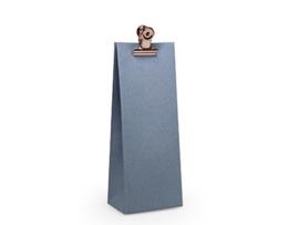 Hoog zakje 13x5x3 cm, kleur silver blue
