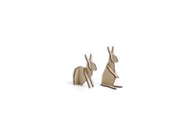 Nordic set konijntjes, klein model, kleur naturel (10,5 x 15 cm)