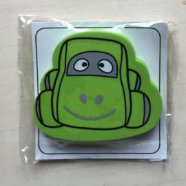 Gom auto kleur groen