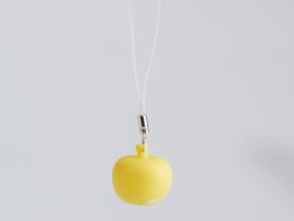 Mini-hanger appeltje geel