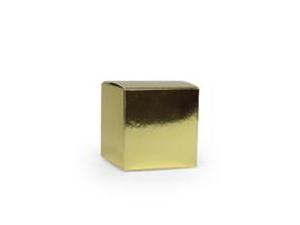 Kubusdoosje 5x5x5 cm, kleur blinkend goud