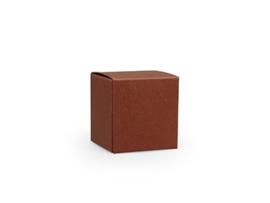 Kubusdoosje 5x5x5 cm, kleur terra
