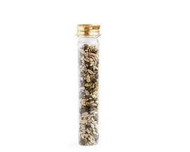Pet tube met gouden dop, 65 ml -  15 cm hoog