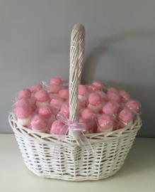 Spekbollen kleur roze, verpakt per kilo