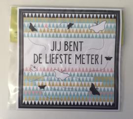 """Sticker thema Nordic: """"Jij bent de liefste meter!"""""""