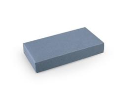 Rechthoekig doosje 1,5x10x5 cm,  kleur silver blue