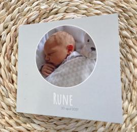 Geboortekaartje met fotowerk