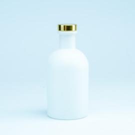 Luxe fles kleur wit  met gouden dop - 250 ml