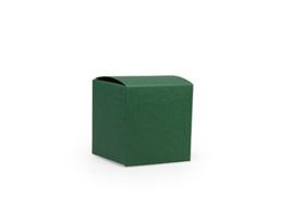 Kubusdoosje 5x5x5 cm, kleur Forest green