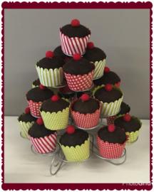 Metalen cupcake-houder, cupcakes niet inbegrepen