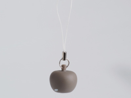 Mini-hanger appeltje taupe