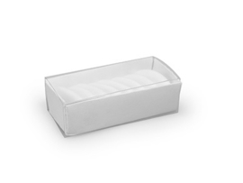 Schuifdoosje 2,2x7,4x3,1 cm, kleur wit