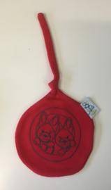 Little Triki's knuffel-tut-doekje, kleur rood