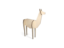 Nordic lama, klein model, kleur naturel (10,5 x 15 cm)