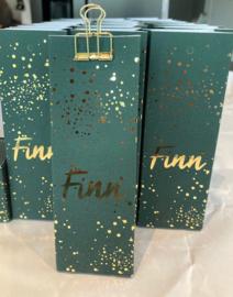 Voorbeeld doosje met folie-druk