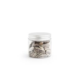 Pet potje met zilveren deksel - 50 ml