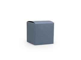 Kubusdoosje 5x5x5 cm, kleur silver blue