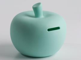 Mini-spaarpot appel kleur muntgroen