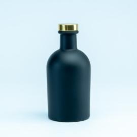 Luxe fles kleur zwart met gouden dop - 250 ml
