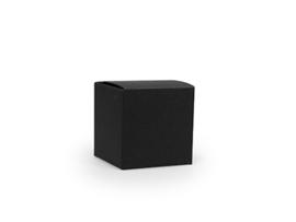 Kubusdoosje 5x5x5 cm, kleur zwart