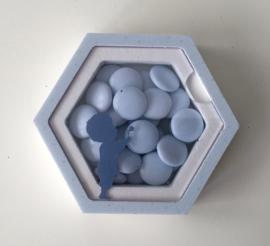 Doosje acryl zeshoek, thema schaduw jongen