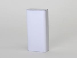Hoog rechthoekig blikje kleur wit