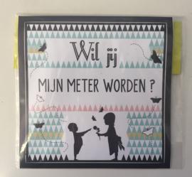 """Sticker thema Nordic: """"Wil jij mijn meter worden?"""""""