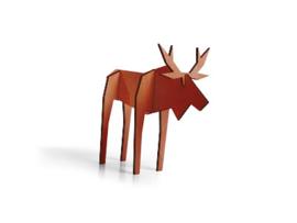Nordic eland, klein model, kleur koper (10,5 x 15 cm)